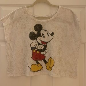 DISNEY MICKEY MOUSE sleeveless crop top